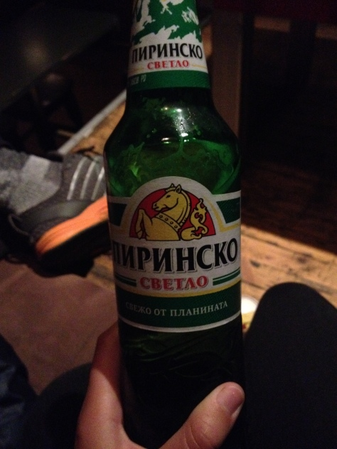 Bulgarian beer, not sure what the name is exactly