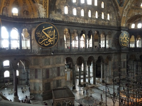 Hagia Sophia from the balcony level