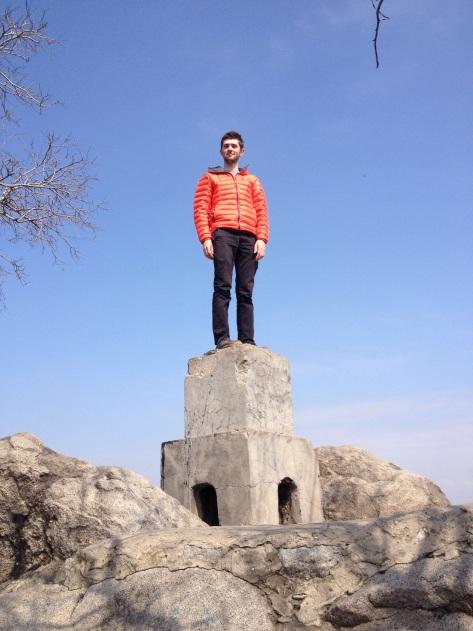 Haegan not being afraid of heights