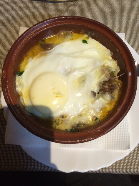 Stew with egg.